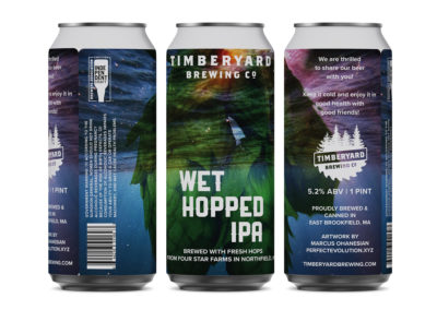 Timberyard Brewing Co. – Wet Hopped IPA Can Design