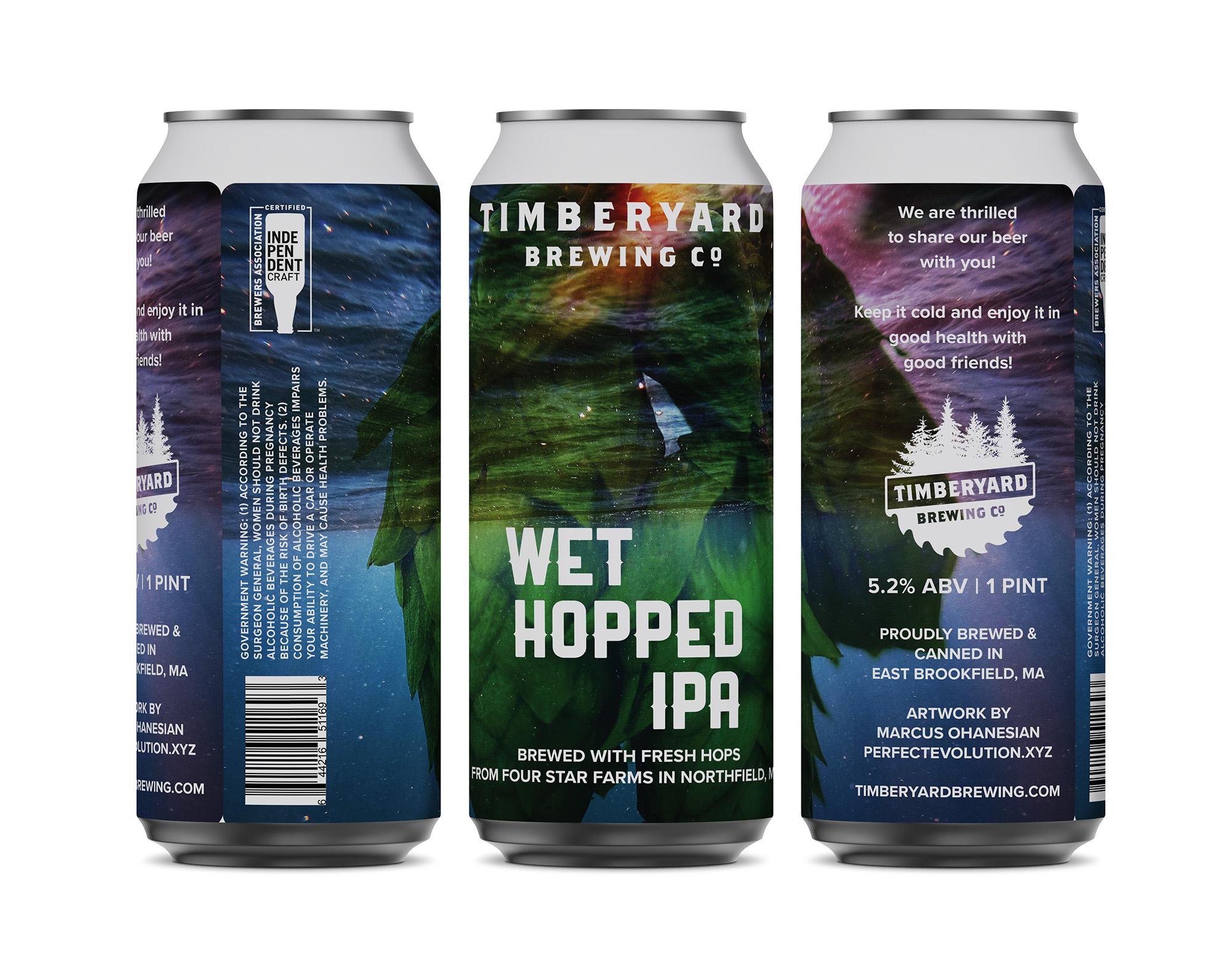 Timberyard Brewing Co - Wet Hopped IPA Can Design