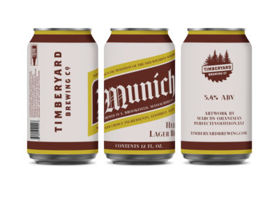 Timberyard Brewing Co. – Munich Helles Lager Can Design