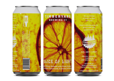 Timberyard Brewing Co. – Slice of Light Can Design