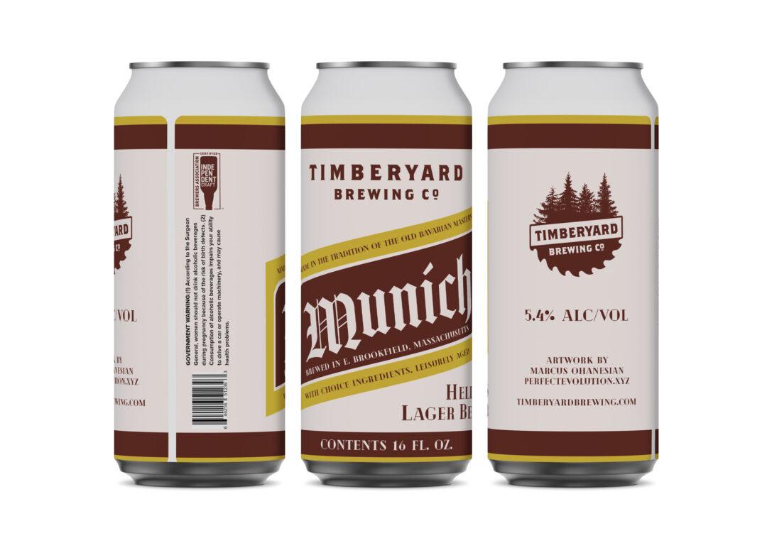 Timberyard Lager 16oz Can Design