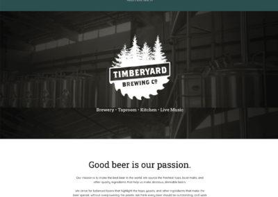 Timberyard Brewing Co – Website Design